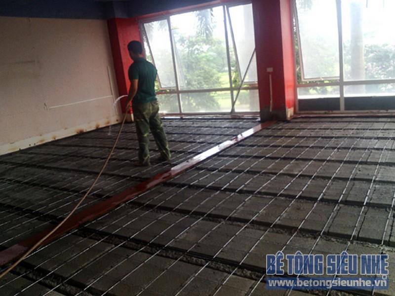 Sàn bê tông nhẹ - Giải pháp tuyệt vời cho việc thi công cải tạo nhà chung cư cũ