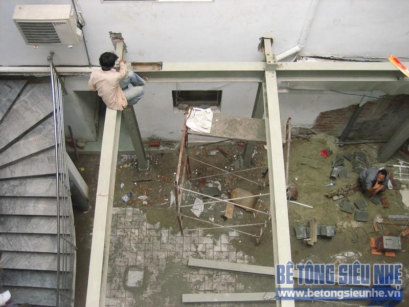 Cập nhật loạt ảnh công trình thi công sàn bê tông siêu nhẹ tại Nguyễn Xiển