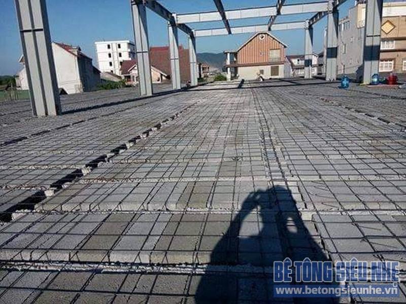 Hình ảnh mới nhất về công trình sàn bê tông siêu nhẹ tại Bắc Từ Liêm