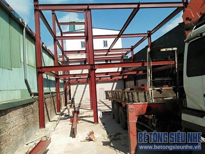 Hoàn thiện lắp ghép nhà khung thép công trình nhà xưởng tại Long Biên - 07