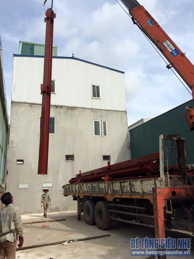Hoàn thiện lắp ghép nhà khung thép công trình nhà xưởng tại Long Biên - 04