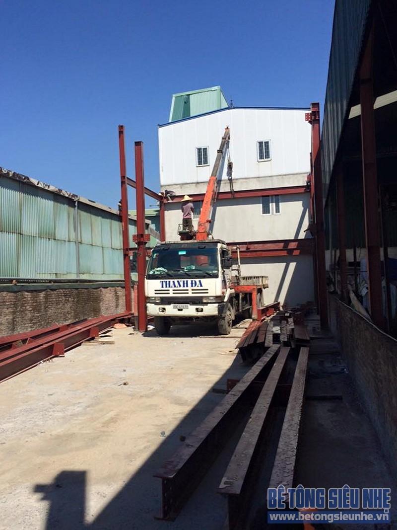 Hoàn thiện lắp ghép nhà khung thép công trình nhà xưởng tại Long Biên - 05