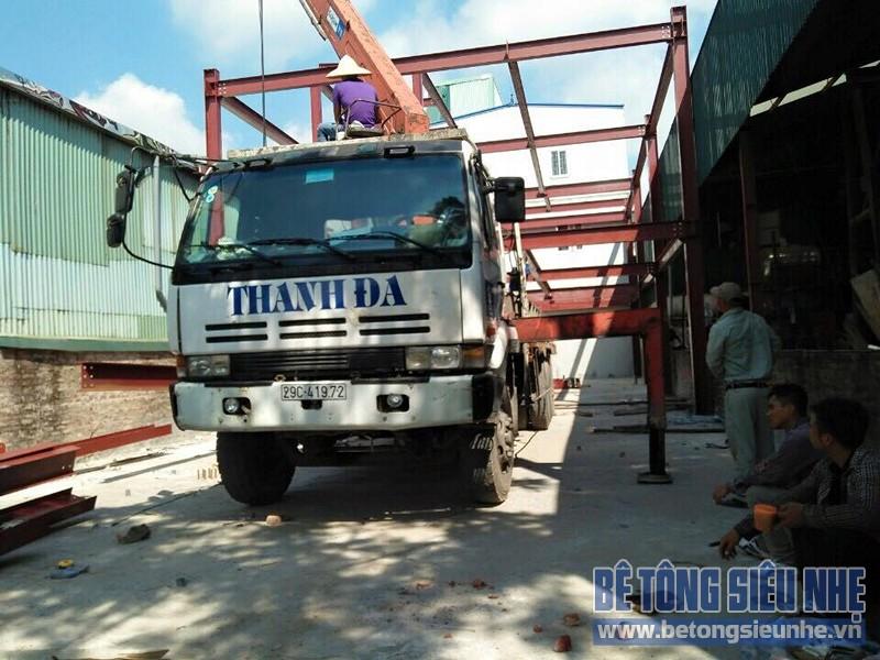 Hoàn thiện lắp ghép nhà khung thép công trình nhà xưởng tại Long Biên - 06