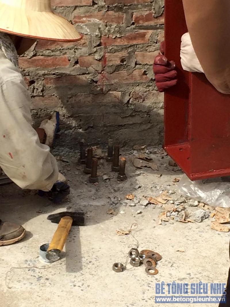 Hoàn thiện lắp ghép nhà khung thép công trình nhà xưởng tại Long Biên - 02