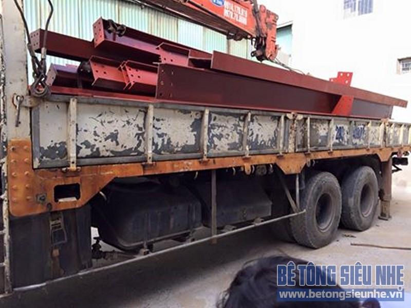 Hoàn thiện lắp ghép nhà khung thép công trình nhà xưởng tại Long Biên - 01