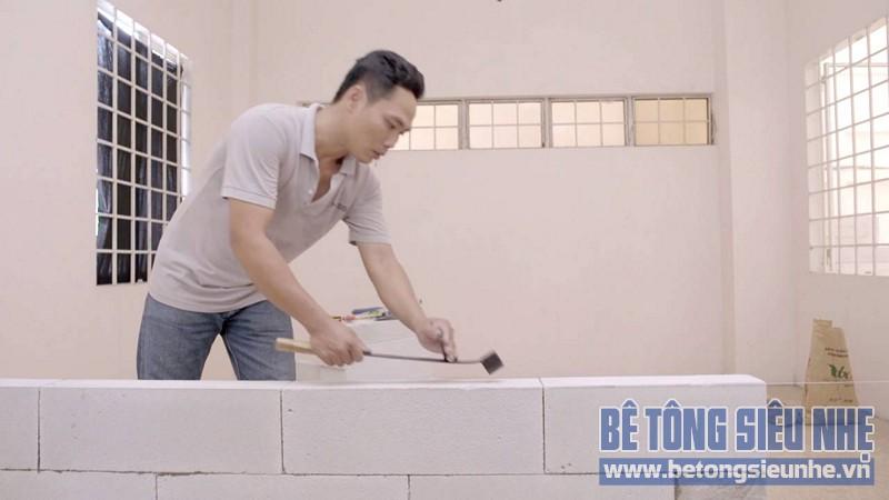 Hướng dẫn cách thi công gạch bê tông nhẹ khi xây nhà - 03
