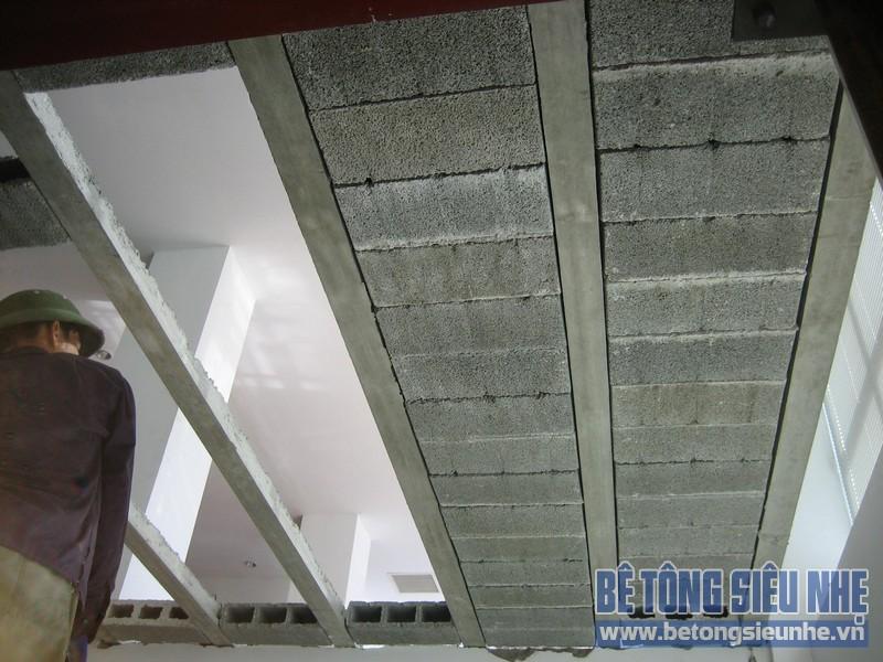 Loạt ảnh công trình thi công sàn bê tông siêu nhẹ tại Nguyễn Chí Thanh