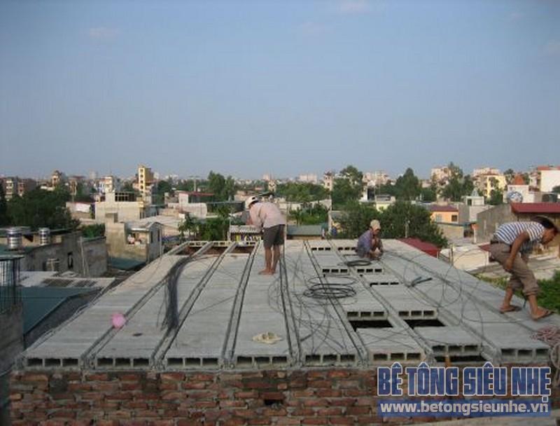Sửa nhà nâng thêm tầng sử dụng sàn bê tông siêu nhẹ 04