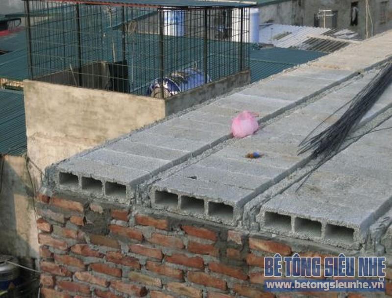 Sửa nhà nâng thêm tầng sử dụng sàn bê tông siêu nhẹ 06