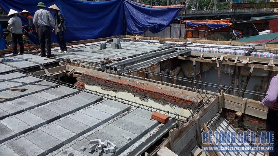 Thi công công trình sàn bê tông nhẹ cho khách sạn tại Long Biên - 01