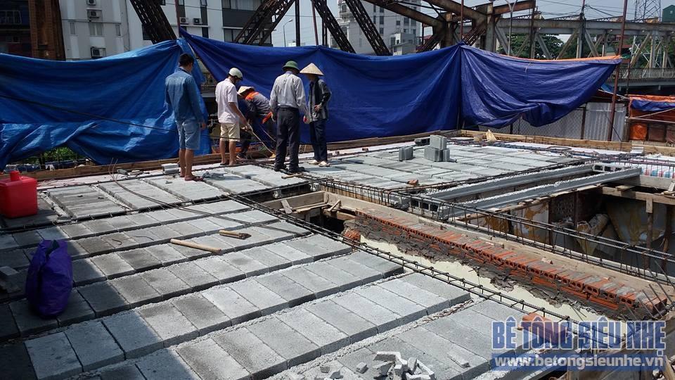 Thi công công trình sàn bê tông nhẹ cho khách sạn tại Long Biên - 02