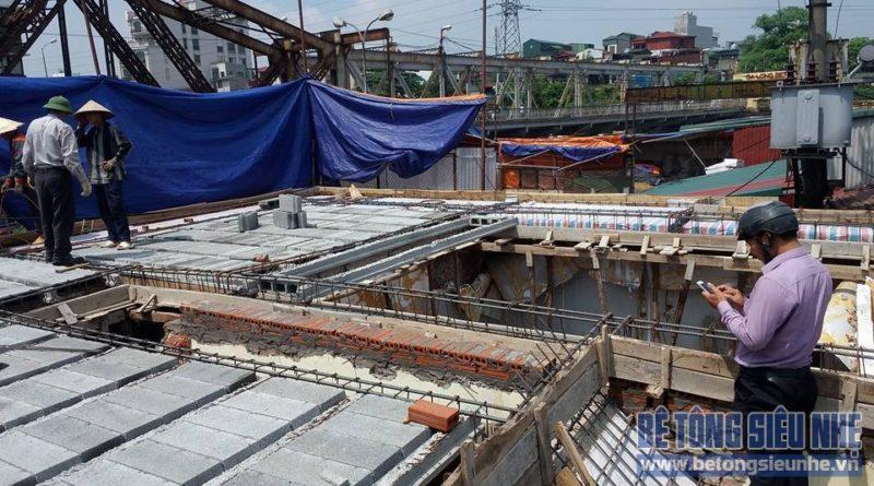 Thi công công trình sàn bê tông nhẹ cho khách sạn tại Long Biên