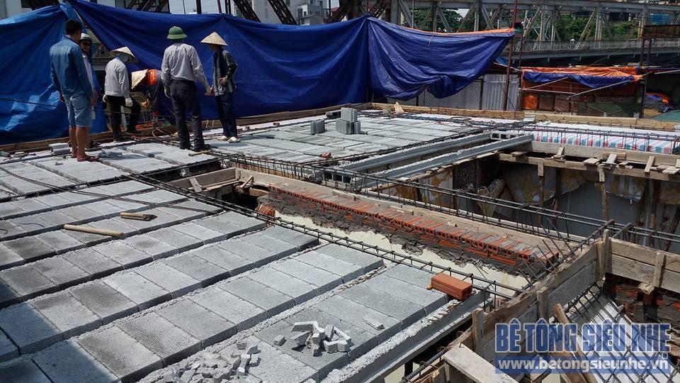 Thi công công trình sàn bê tông nhẹ cho khách sạn tại Long Biên - 04