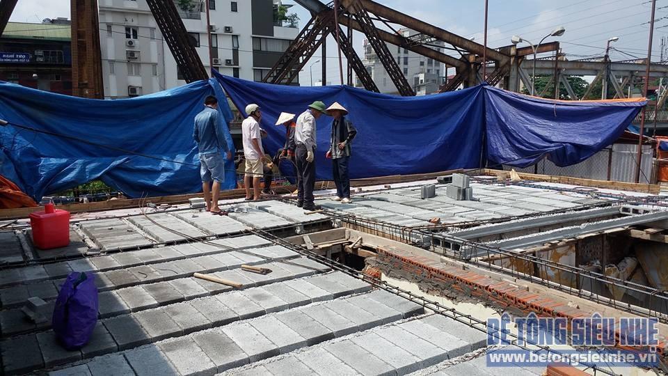 Thi công công trình sàn bê tông nhẹ cho khách sạn tại Long Biên - 06