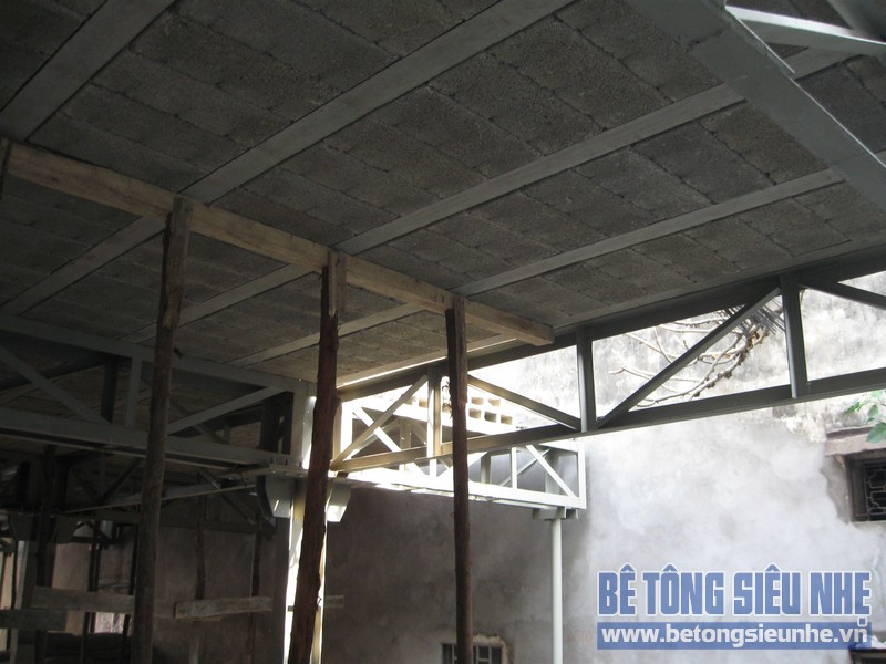 Thi công nhà khung thép kết hợp sàn panel tại Triều Khúc, Thanh Xuân, Hà Nội
