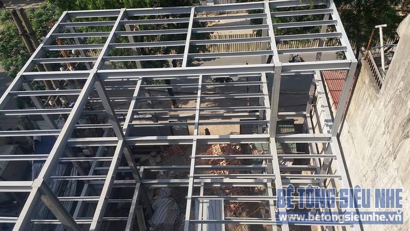Thi công nhà khung thép siêu chắc chắn tại thị trấn Trâu Quỳ, Gia Lâm