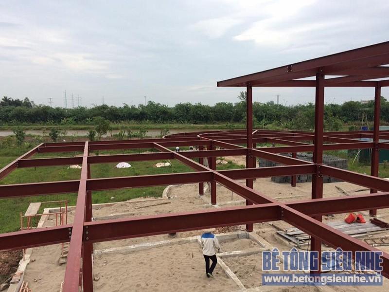 Thi công nhà xưởng bằng kết cấu nhà khung thép tại Nhật Tân, Đông Anh - 03