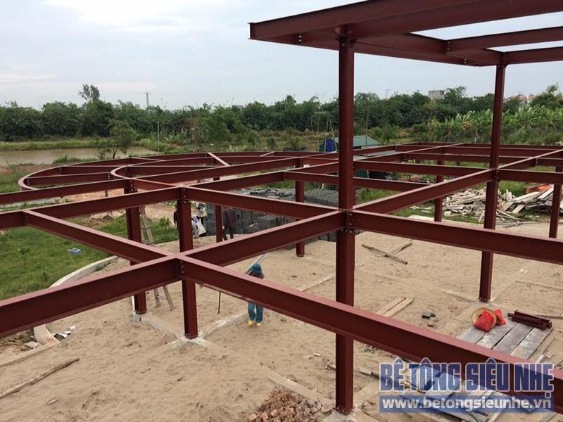 Thi công nhà xưởng bằng kết cấu nhà khung thép tại Nhật Tân, Đông Anh - 04