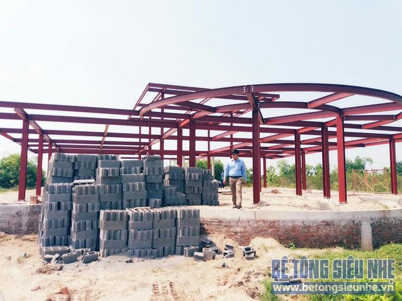 Thi công nhà xưởng bằng kết cấu nhà khung thép tại Nhật Tân, Đông Anh - 07
