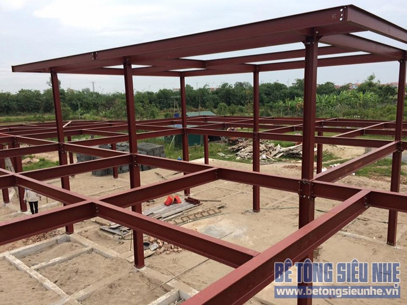 Thi công nhà xưởng bằng kết cấu nhà khung thép tại Nhật Tân, Đông Anh - 06