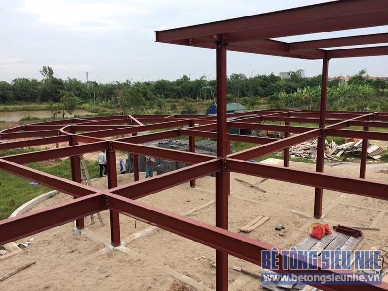 Thi công nhà xưởng bằng kết cấu nhà khung thép tại Nhật Tân, Đông Anh - 01