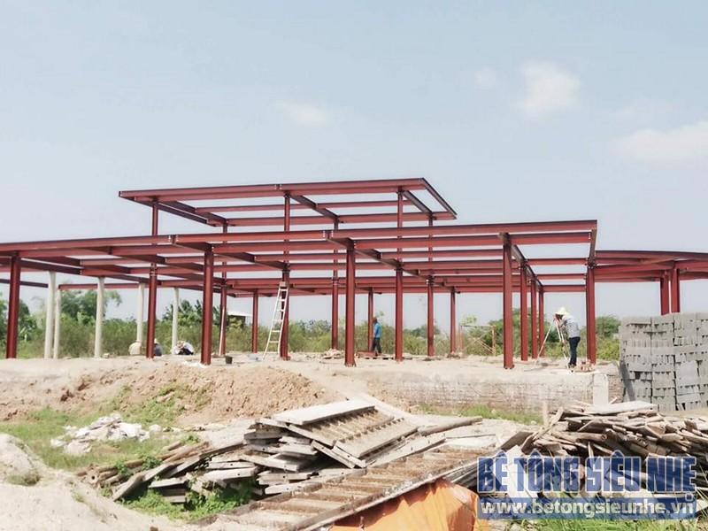 Thi công nhà xưởng bằng kết cấu nhà khung thép tại Nhật Tân, Đông Anh - 05