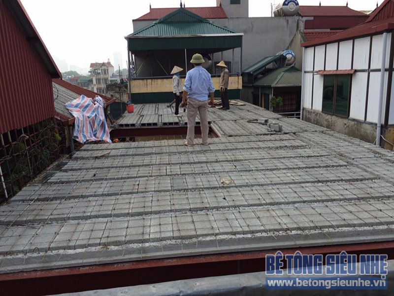 Công trình dùng sàn bê tông nhẹ để cải tạo nhà của gia đình chị Hằng, Đống Đa - 04