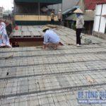 Thi công công trình cải tạo nhà sử dụng sàn bê tông nhẹ của gia đình chị Hằng, Đống Đa