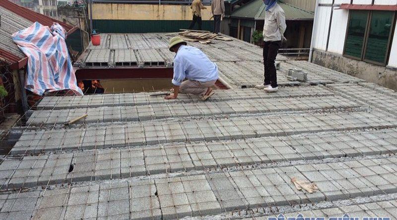 Công trình dùng sàn bê tông nhẹ để cải tạo nhà của gia đình chị Hằng, Đống Đa