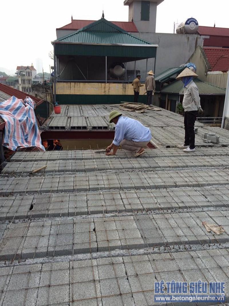 Công trình dùng sàn bê tông nhẹ để cải tạo nhà của gia đình chị Hằng, Đống Đa - 03