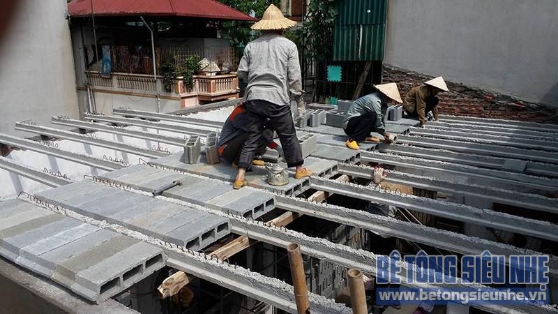 Thi công sàn bê tông nhẹ cho công trình nhà dân dụng tại Tân Ấp, Phúc Xá - 05