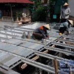 Thi công sàn bê tông nhẹ cho công trình nhà dân dụng tại Tân Ấp, Phúc Xá