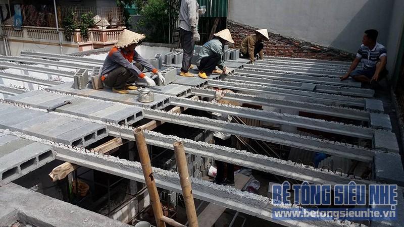 Thi công sàn bê tông nhẹ cho công trình nhà dân dụng tại Tân Ấp, Phúc Xá - 03