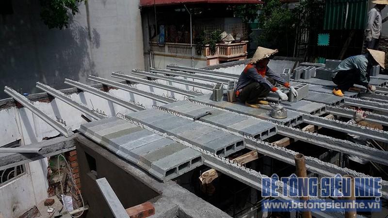 Thi công sàn bê tông nhẹ cho công trình nhà dân dụng tại Tân Ấp, Phúc Xá - 04