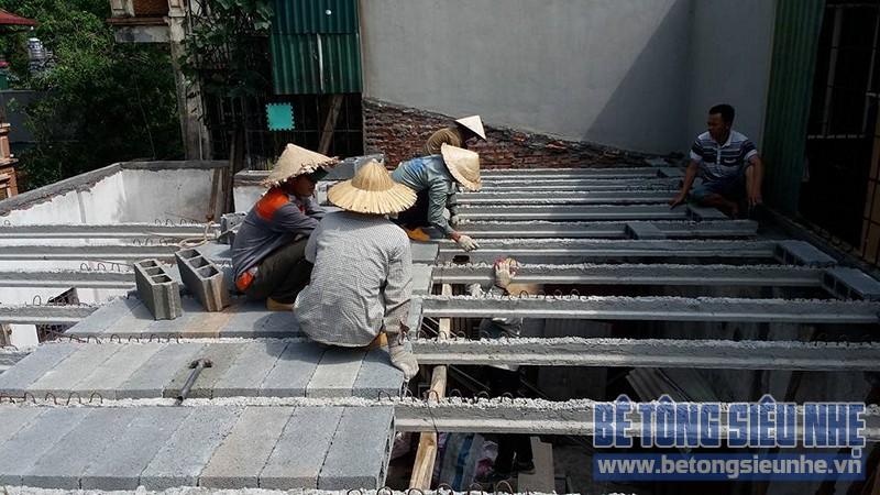 Thi công sàn bê tông nhẹ cho công trình nhà dân dụng tại Tân Ấp, Phúc Xá - 02