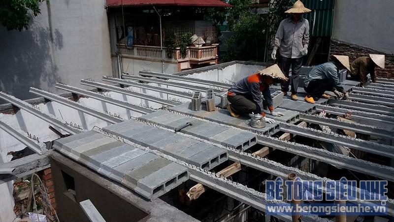 Thi công sàn bê tông nhẹ cho công trình nhà dân dụng tại Tân Ấp, Phúc Xá - 01