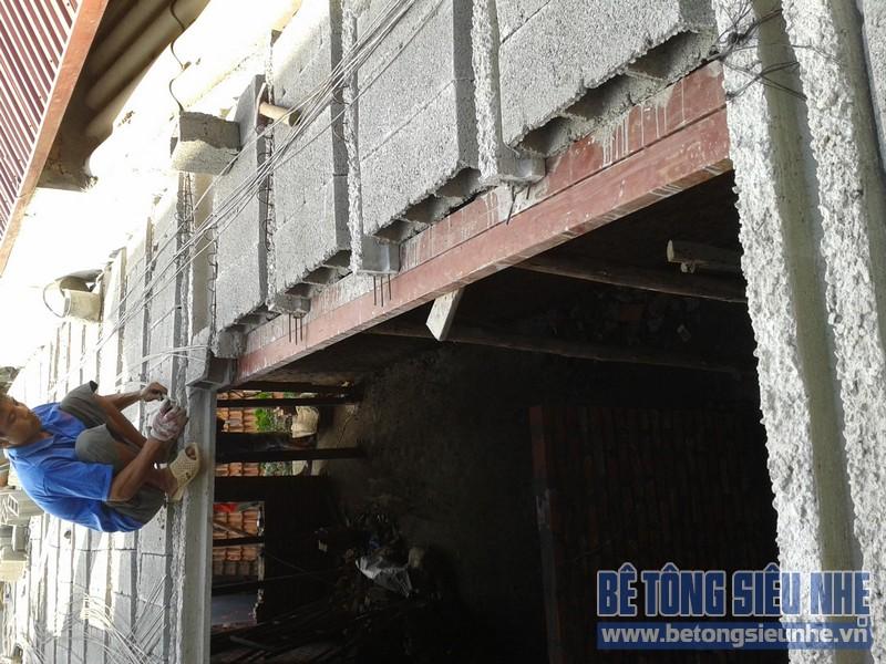 Thi công sàn bê tông nhẹ Hà Nội 05