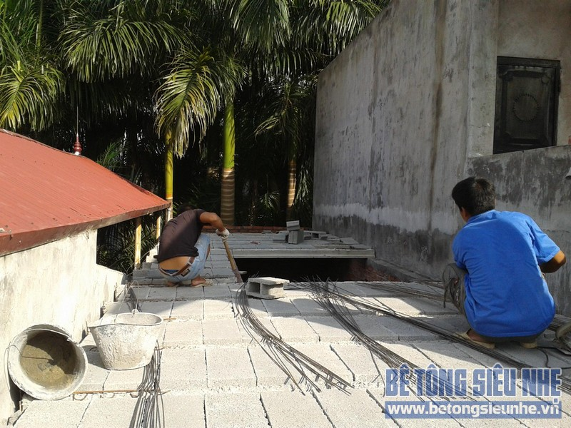 Thi công sàn bê tông nhẹ Hà Nội 06