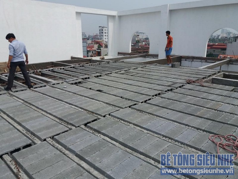 Công trình thi công sàn bê tông nhẹ nhà xưởng tại Tiền Thắng, Mê Linh - 03