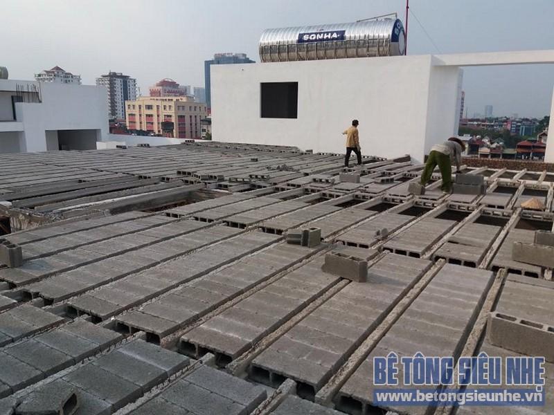 Công trình thi công sàn bê tông nhẹ nhà xưởng tại Tiền Thắng, Mê Linh - 01