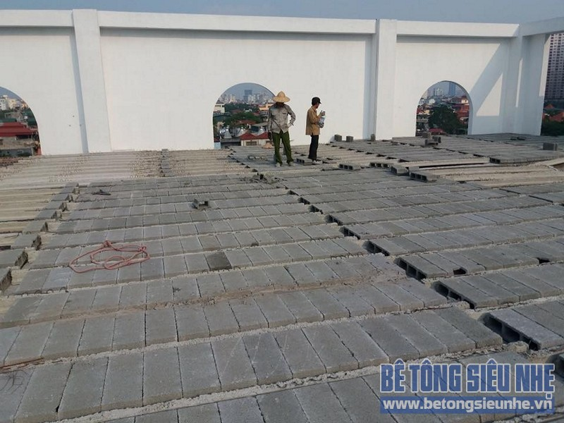 Công trình thi công sàn bê tông nhẹ nhà xưởng tại Tiền Thắng, Mê Linh - 02