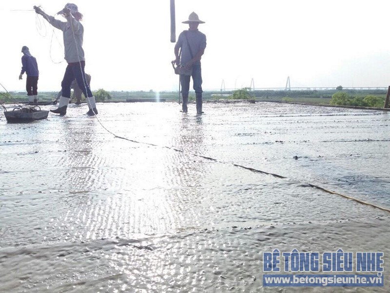 Thi công sàn bê tông siêu nhẹ cho công trình nhà xưởng ở Tàm Xá, Đông Anh - 04