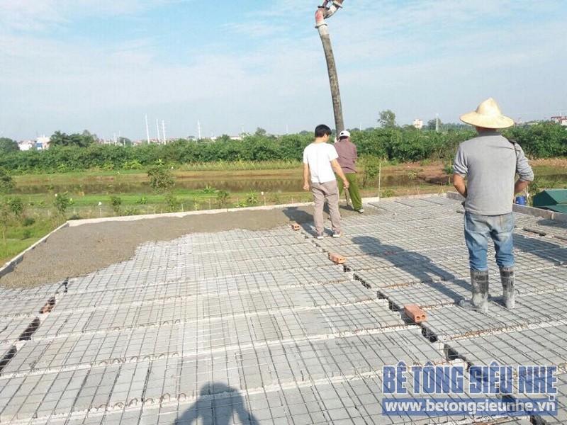 Thi công sàn bê tông siêu nhẹ cho công trình nhà xưởng ở Tàm Xá, Đông Anh - 02