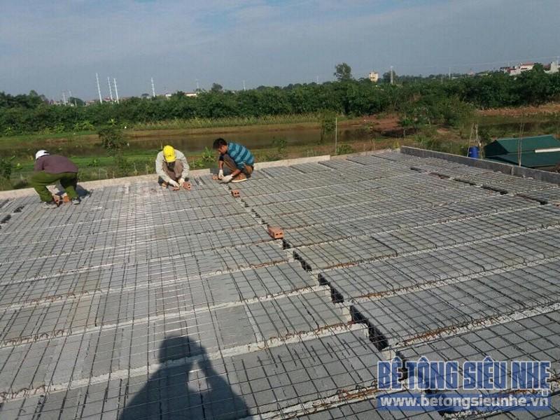 Thi công sàn bê tông siêu nhẹ cho công trình nhà xưởng ở Tàm Xá, Đông Anh - 01