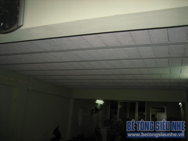 Thi công sàn bê tông siêu nhẹ tại Mai Hắc Đế 02