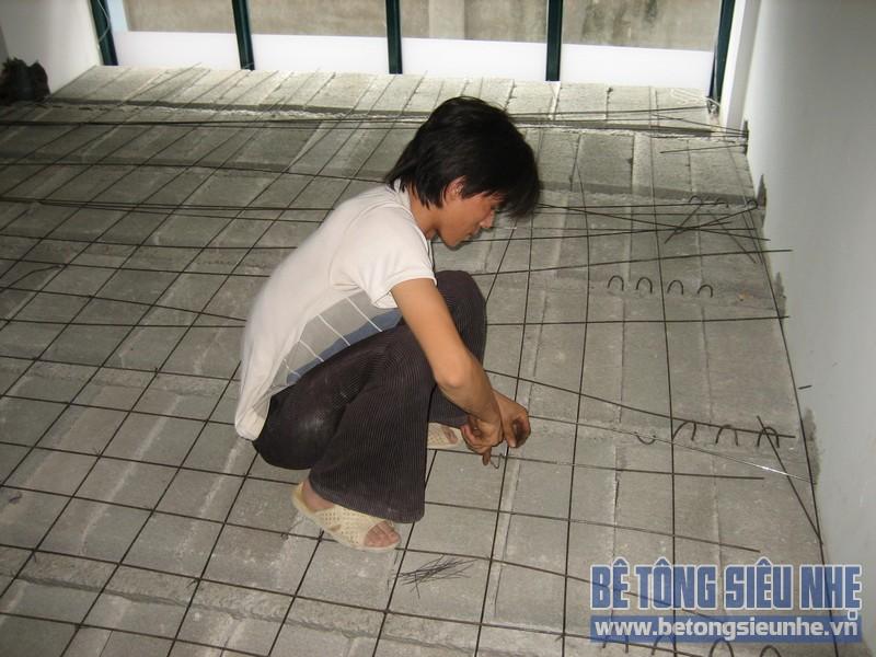 Thi công sàn bê tông siêu nhẹ tại Mai Hắc Đế 06