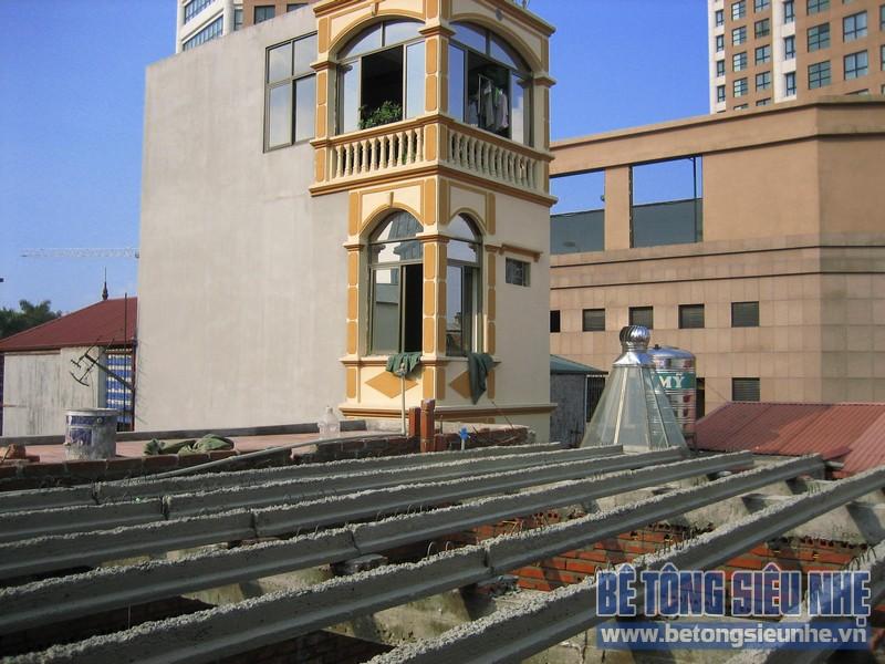 Thi công trần bê tông siêu nhẹ tại phố Nguyễn Ngọc Vũ, Cầu Giấy