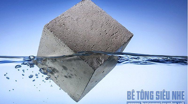 Vì sao bê tông siêu nhẹ có thể nổi trên mặt nước?