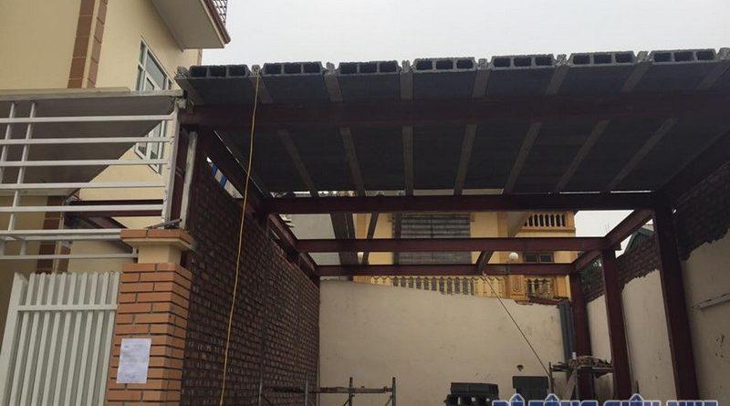 Cải tạo, cơi nới công trình bằng khung thép kết hợp bê tông nhẹ tại Xuân Mai, Chương Mỹ