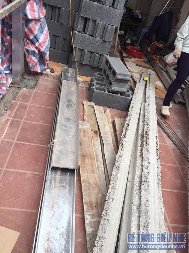 Cải tạo, nâng tầng bằng bê tông siêu nhẹ tại Phú Minh, Sóc Sơn